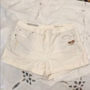GAP GF denim short 32r white
